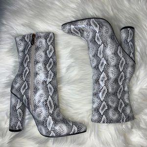 Snake Print Booties Size 6.5